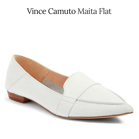2afce3c23ac Vince Camuto Maita White Loafer. M 5a86cd25b7f72ba0d182be6b